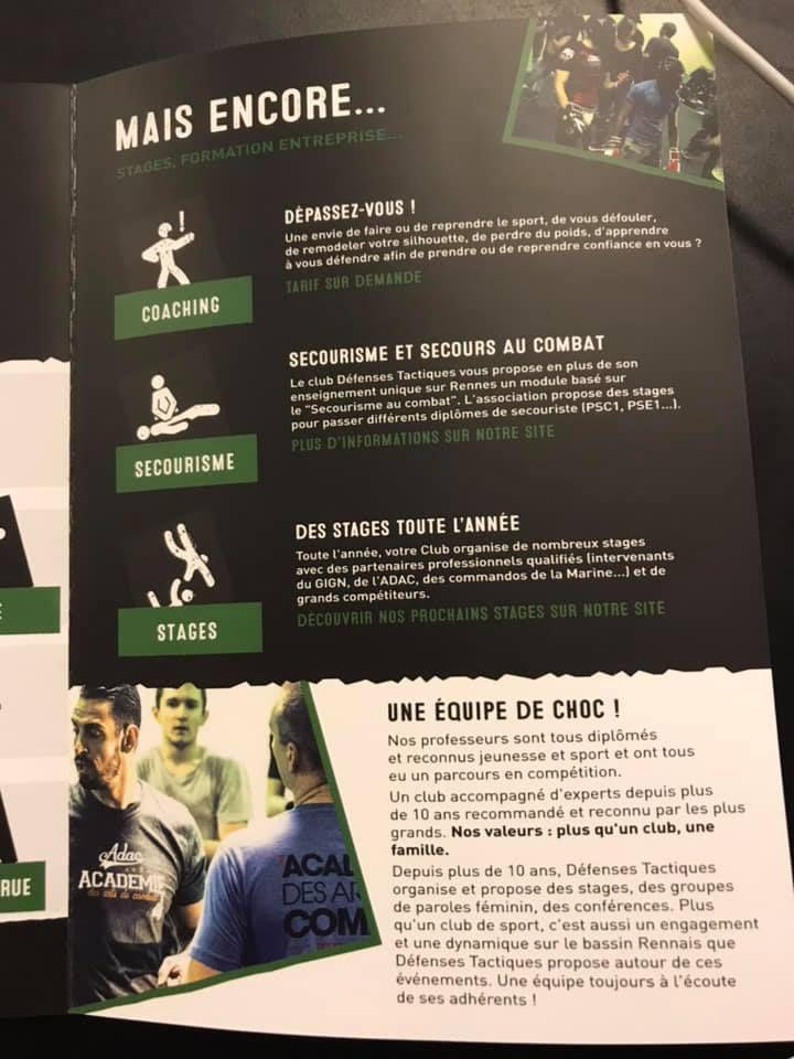 Nouveau flyer pour le club Défenses Tactiques