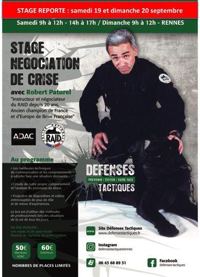 Stage Négociation de crise avec Robert Paturel stage ADAC