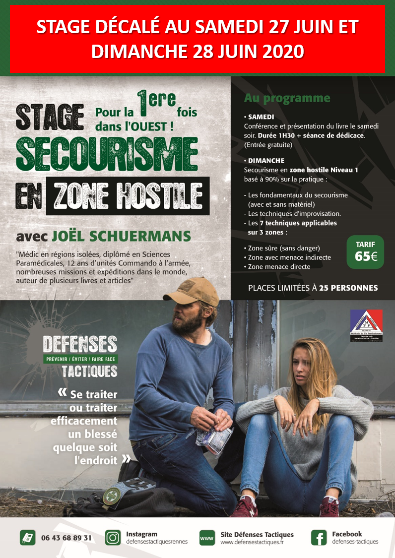 Stage Secourisme en zone hostile avec Joel Schuermans et mtp formation