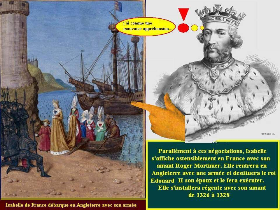 Isabelle et Mortimer défie le roi d'Angleterre