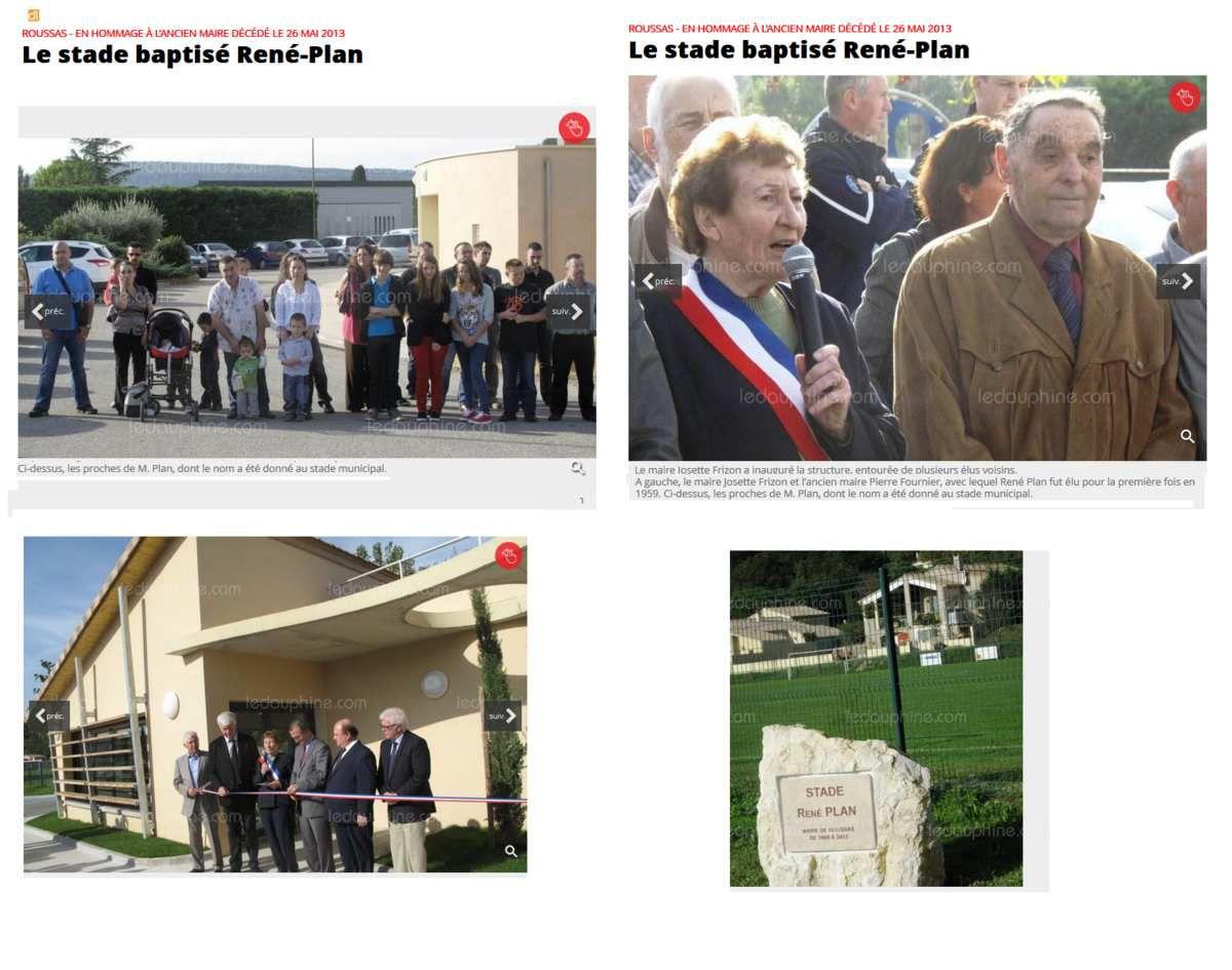 Inauguration du stade René Plan- Roussas