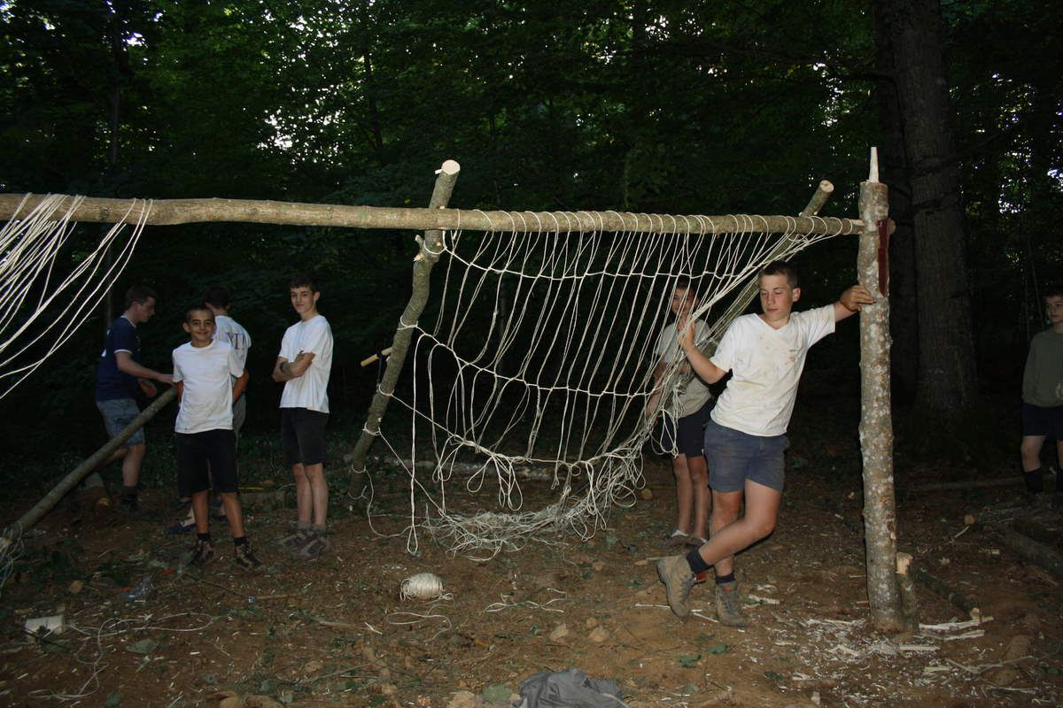 Photos camp scout Bourgogne 2011