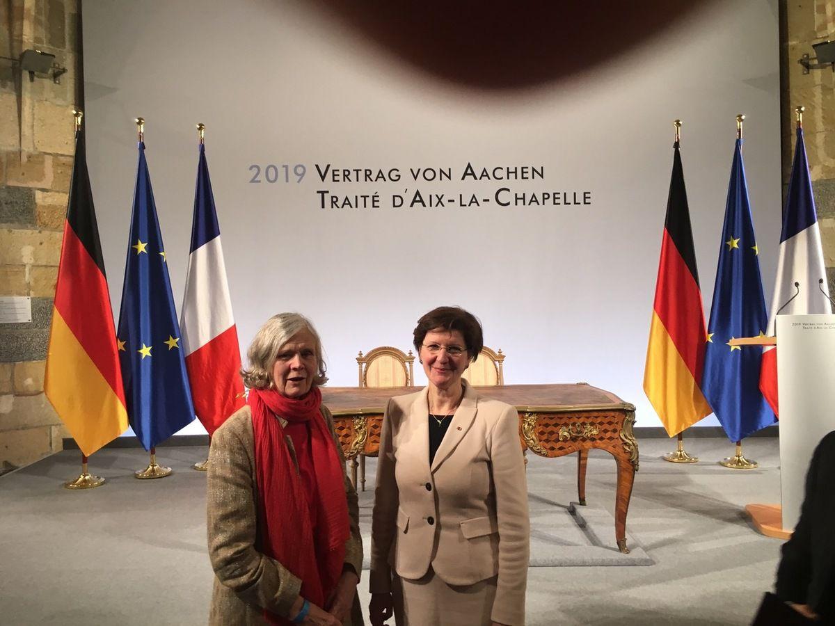 Cérémonie de signature solennelle du Traité d'Aix-la-Chapelle