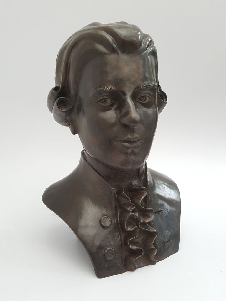 mozart-sculpteur-statuaire-buste-bronze-dan robert-bronze-bronze d'art original-