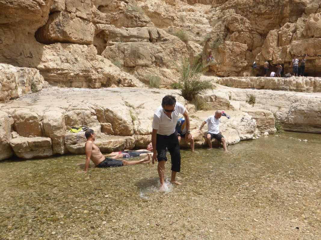 Pique-nique dans le Wadi Qelt