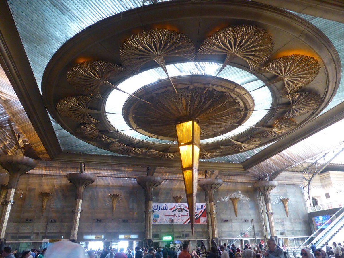 La déco de la gare du Caire