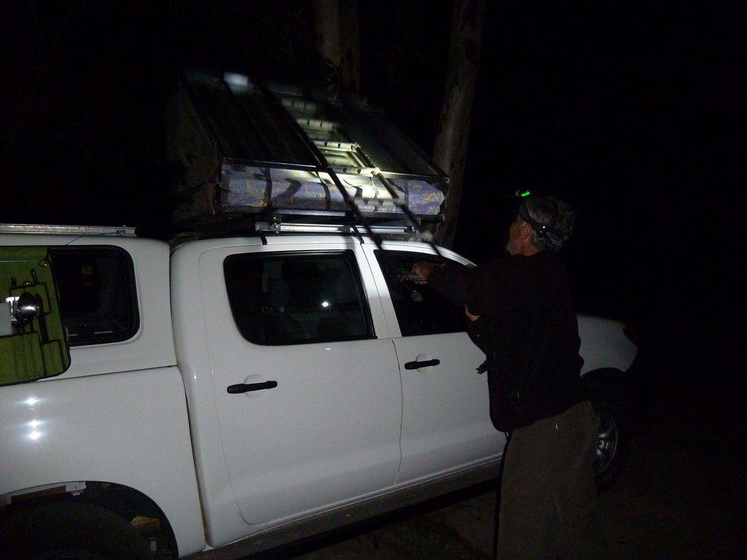 J6 – Mercredi 18 juillet 2012 – Première soirée en bushmen