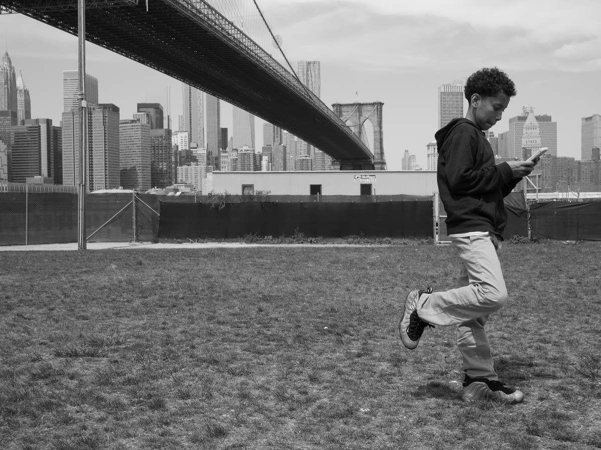 NEW-YORK sous le Pont de Brooklyn ce 7 mai 2018