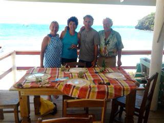 Louise, Syl, le jeune vieux, et Gordon.