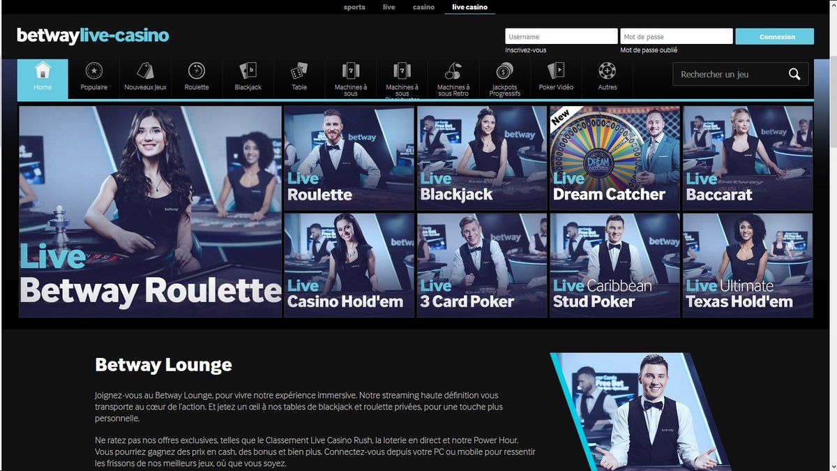 Betway Live Casino Belgique
