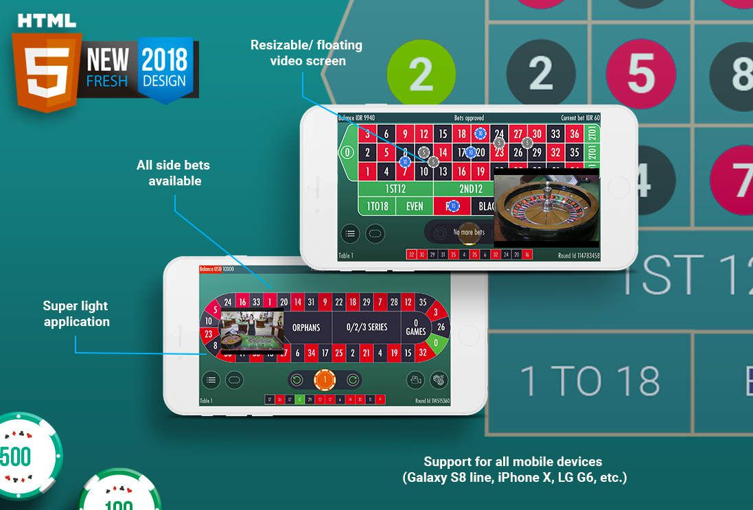 mobile roulette live Vivo Gaming
