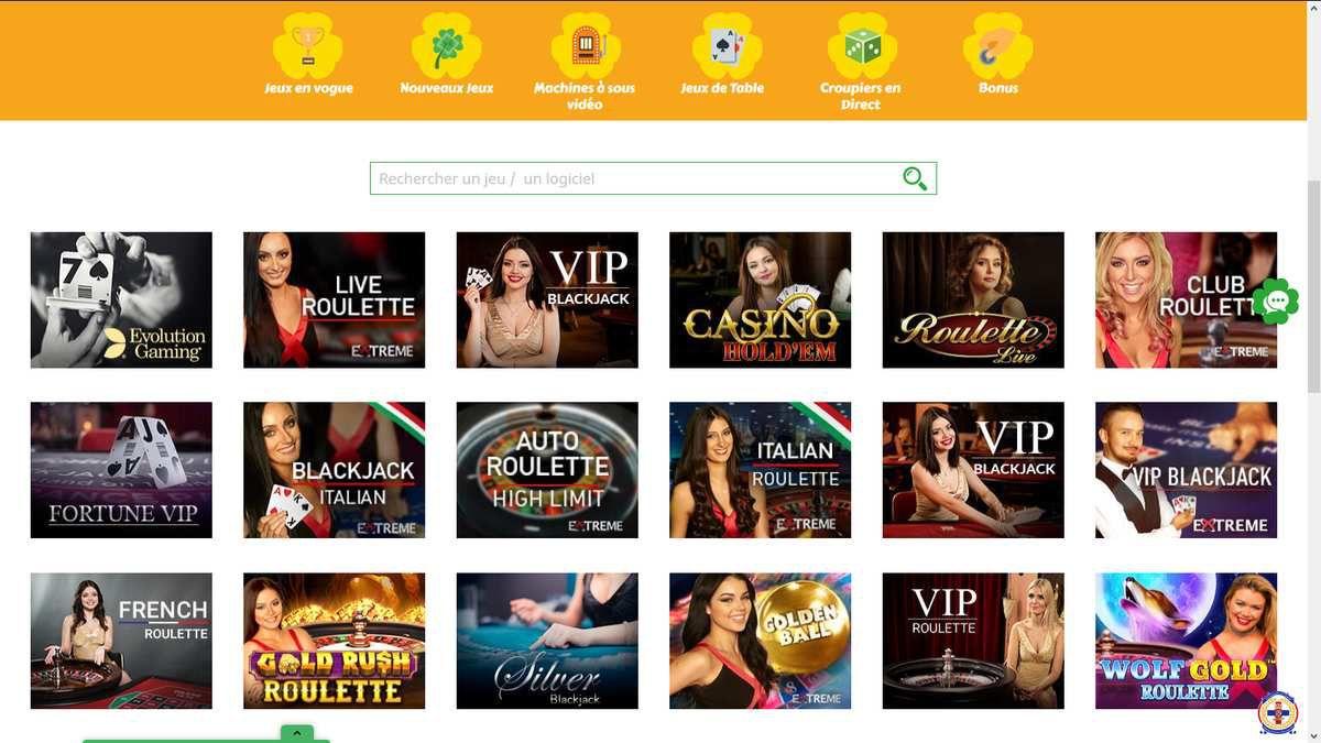 casino en ligne live All Wins Casino