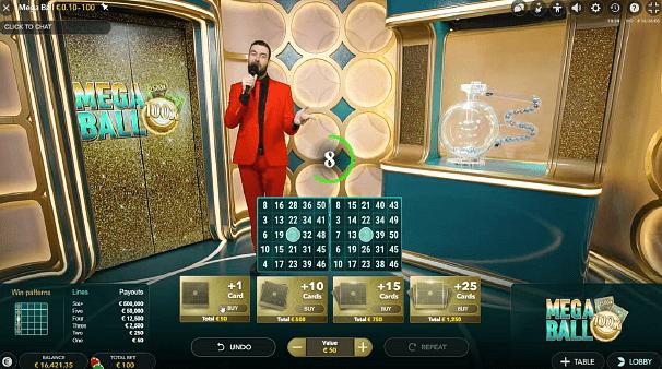 Mega Ball : le nouveau jeu de bingo en ligne live du développeur Evolution Gaming