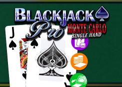 Blackjack Pro Monte Carlo Single Hand