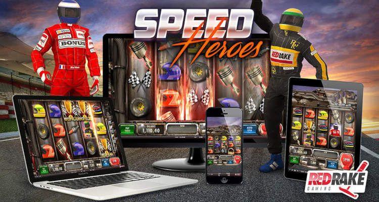 machine à sous pour pc et mobiles Speed Heroes du développeur Red Rake Gaming