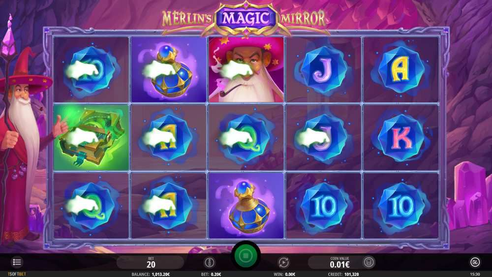 machine a sous Merlin's Magic Mirror jeu bonus Wizard Wilds