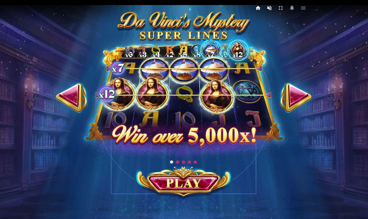 machine à sous Da Vinci's Mystery Super Lines