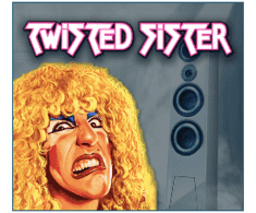machine a sous Twisted Sister logiciel Play'n Go