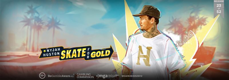 machine à sous en ligne Nyjah Huston - Skate for Gold développeur Play'n Go