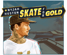 machine a sous mobile Nyjah Huston - Skate for Gold logiciel Play'n Go