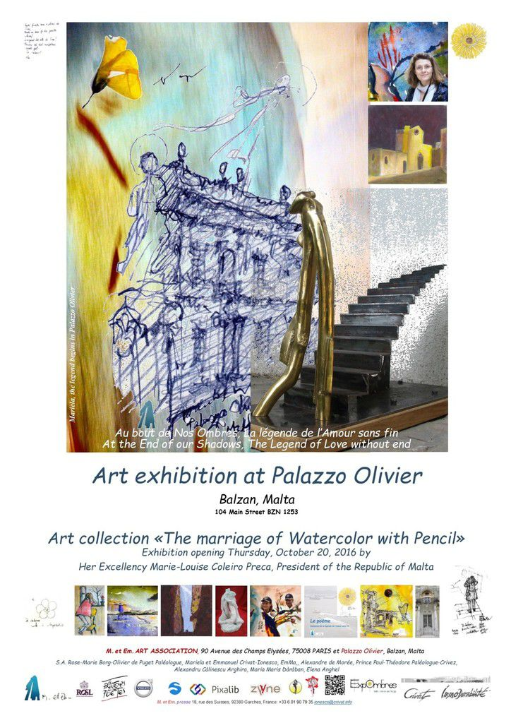 Art exhibition at Palazzo Olivier