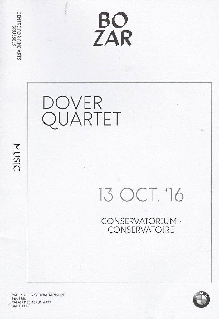 ROYAL CONSERVATORY OF BRUSSELS - 13 Octobre 2016