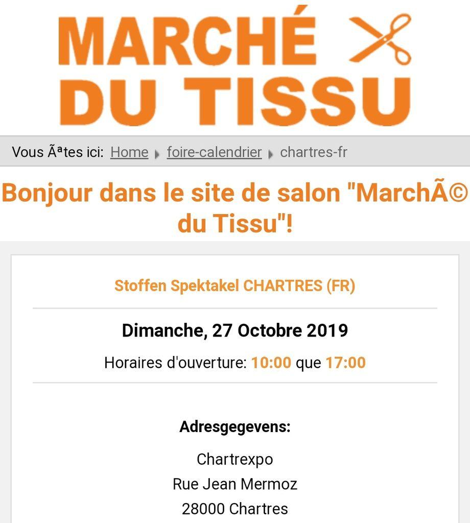 Marché au Tissu à Chartres