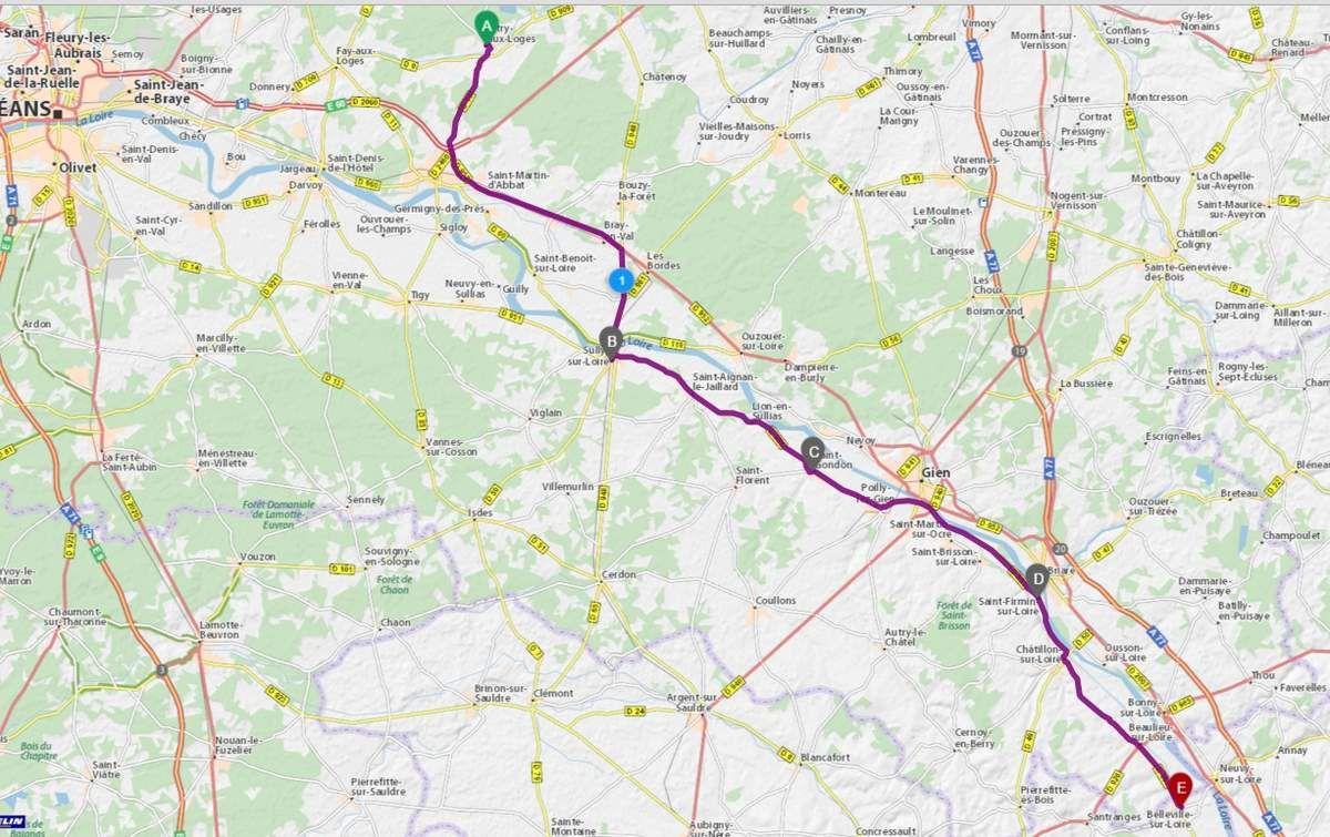 Itinéraire du mardi matin 8 septembre 2015