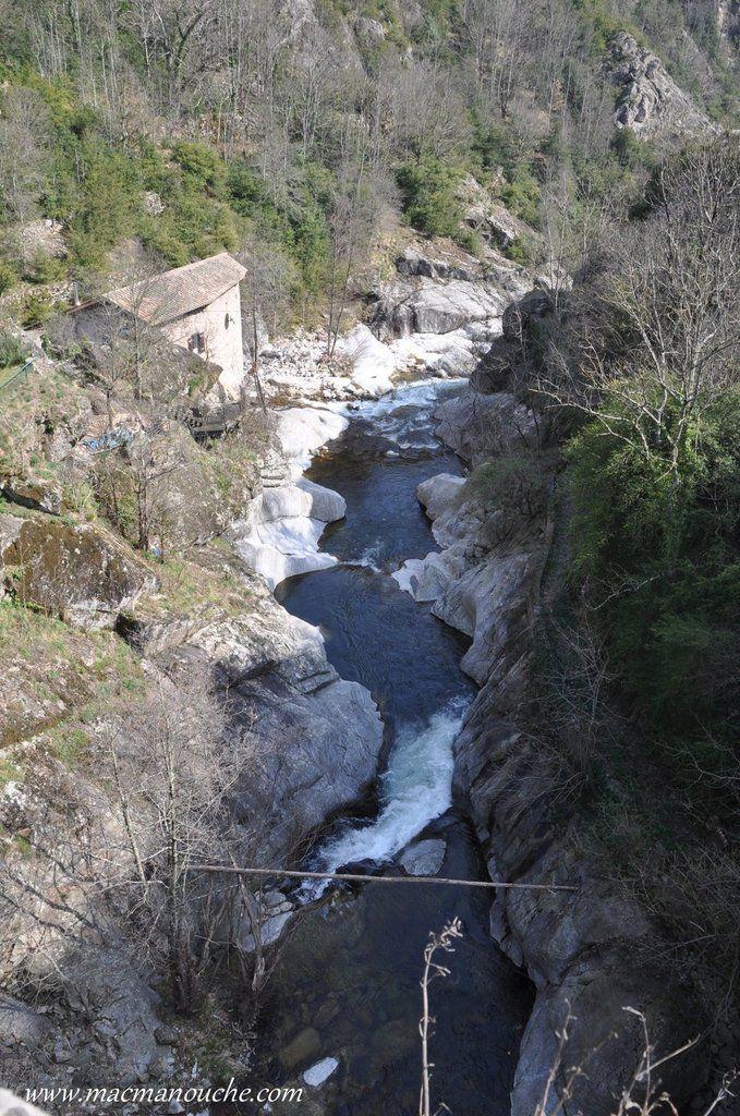 La Volane en aval du pont.