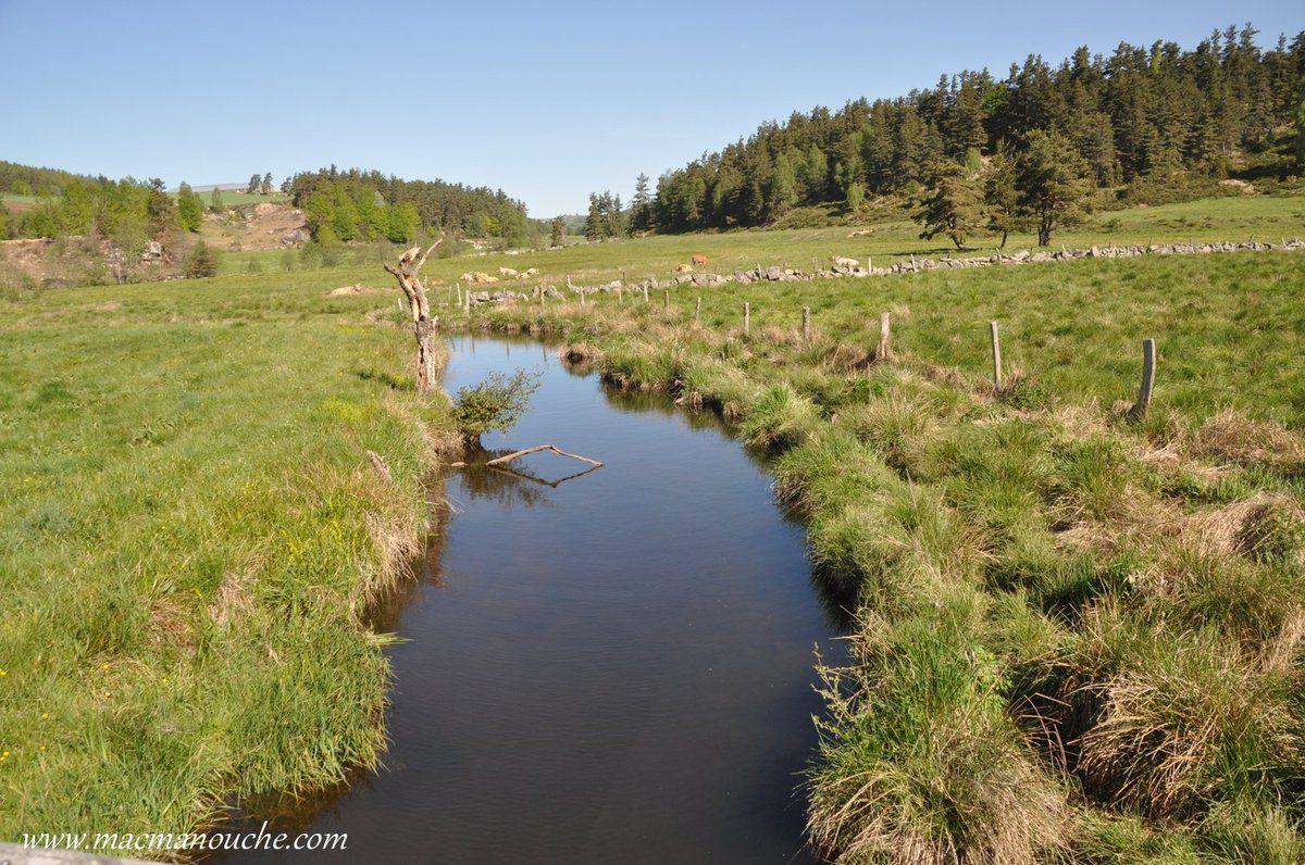 … == > … Le lac est alimenté et traversé par la Crueize.  … == > …
