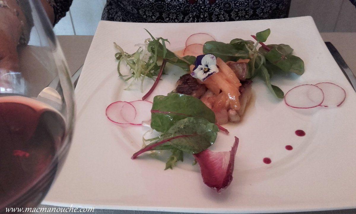 Grillade de foie gras melon & muscat. Excellent!