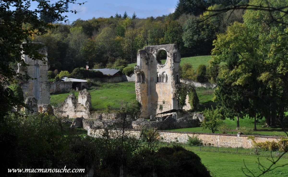 Il ne reste aujourd'hui de l'église du 12ème siècle, que quelques pans. Le support du transept nord et sa rosace, le cellier et un morceau de préau.