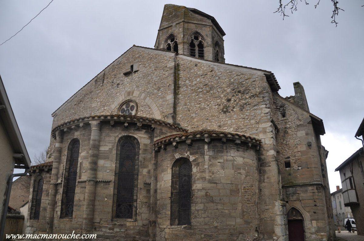 Le chevet et le clocher tronqué qui reste un mystère