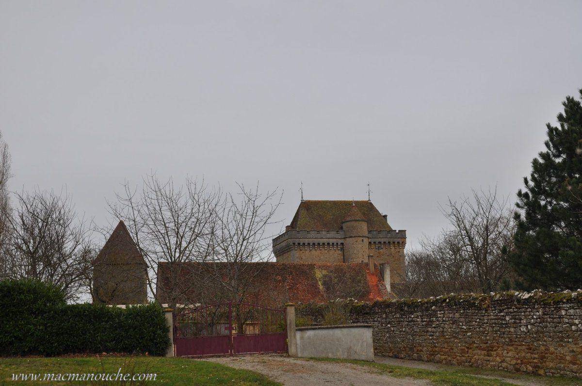 Le donjon est une grosse et forte tour carrée, desservi  par un escalier en vis, abrité dans une tour circulaire accolée.