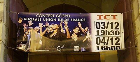 Concert à Lagny sur Marne (77) 3 et 4 décembre 2016