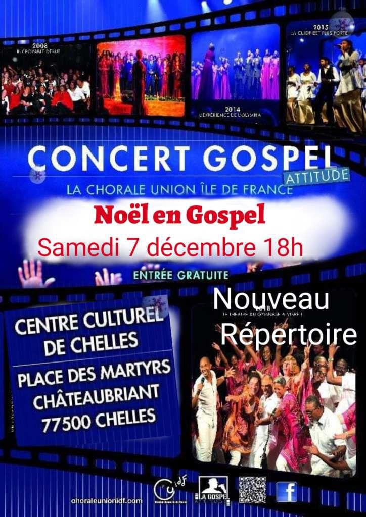 8 décembre Concert Gospel de Noël Lagny Sur Marne (77)