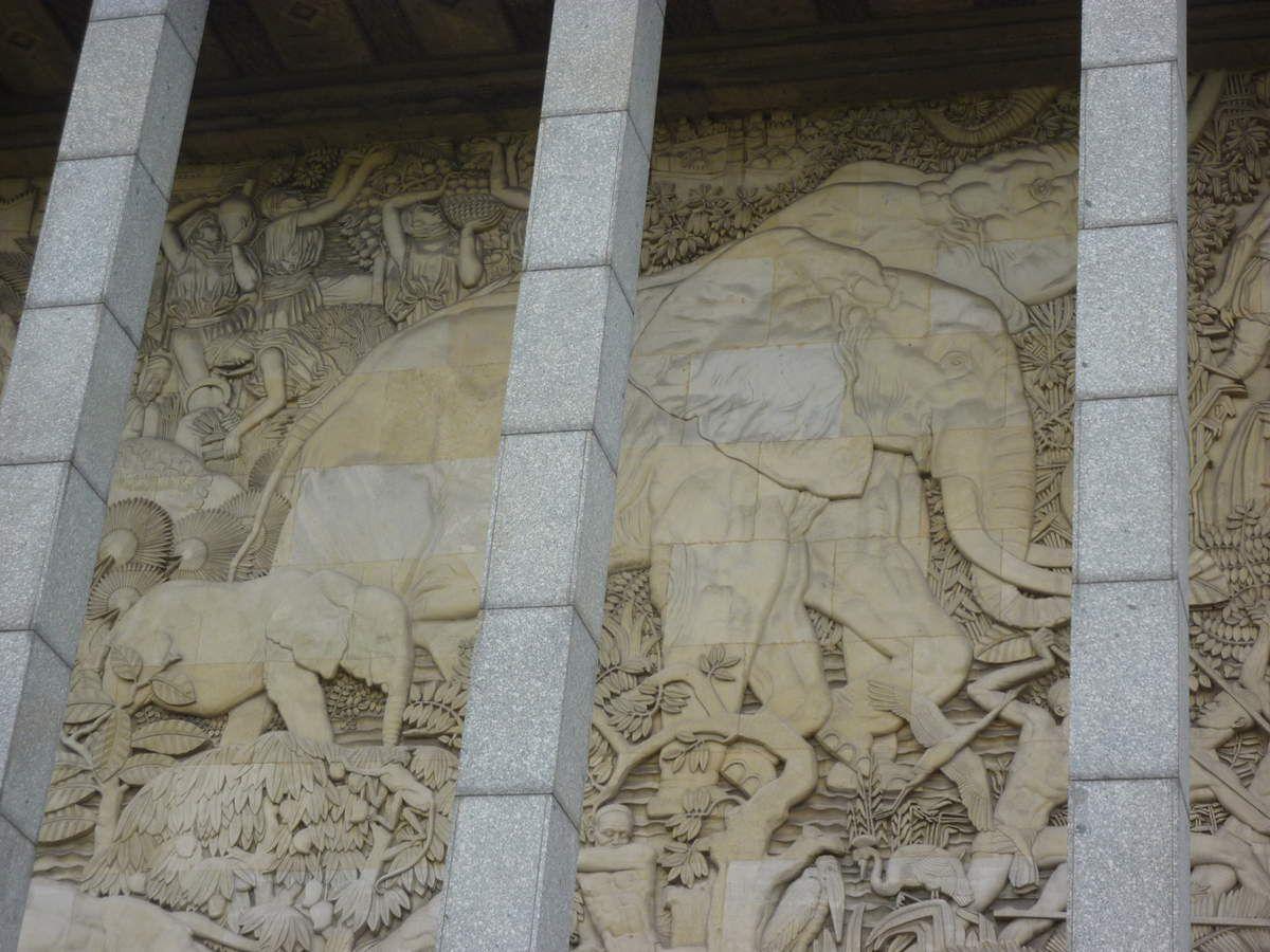 palais de la porte dorée, détail de la façade