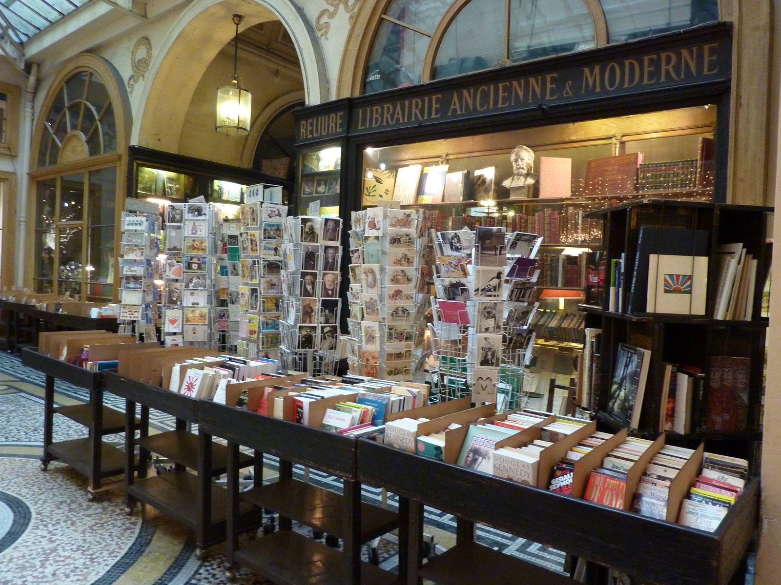 La librairie de la galerie Vivienne