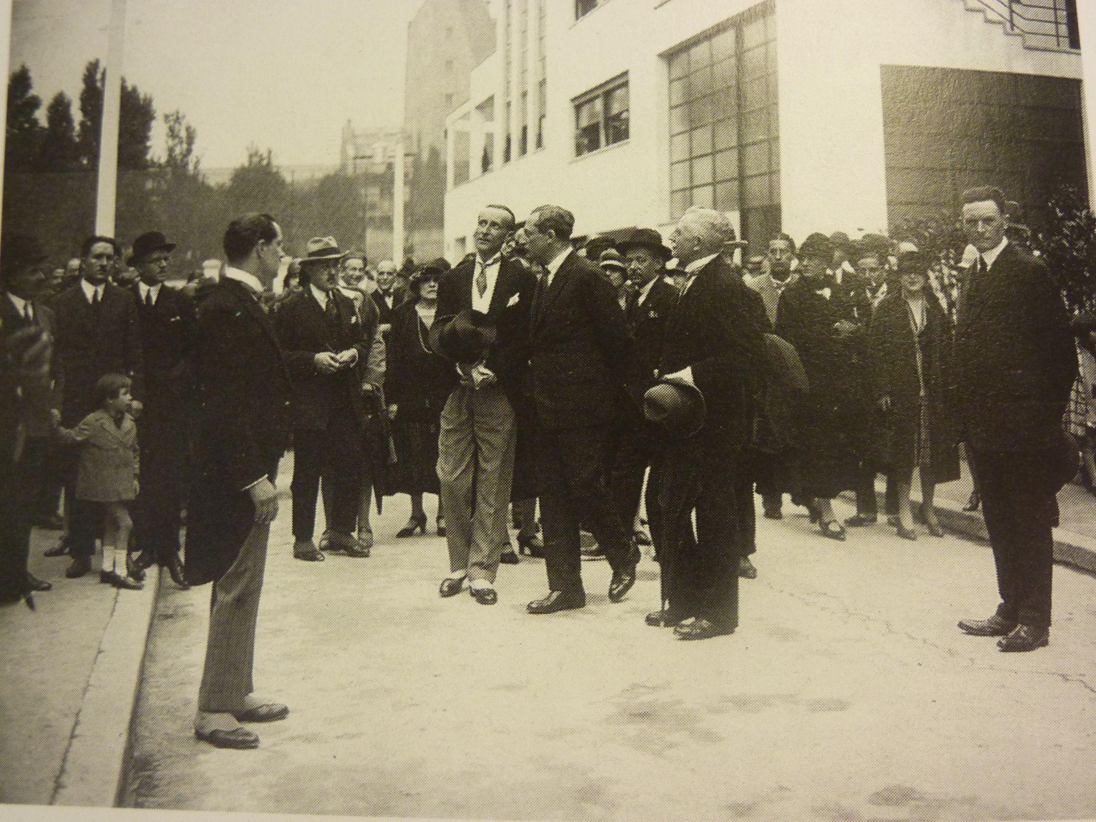 inauguration de la rue Mallet-Stevens, 16ème arrondissement en présence de l'architecte