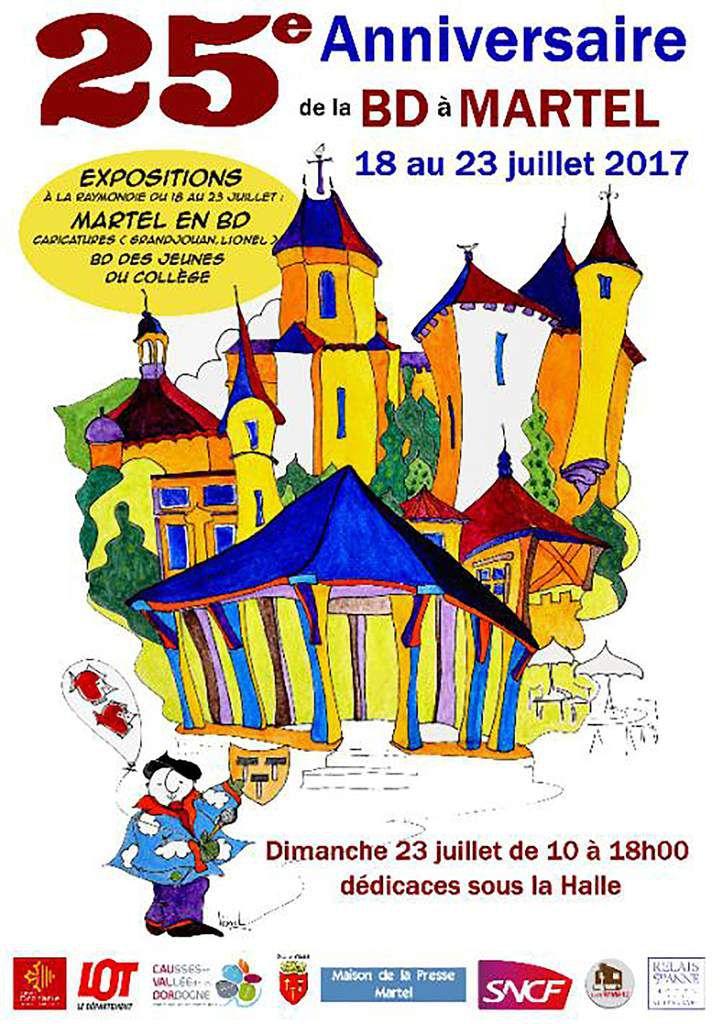 Festival BD Martel 2017 Affiche