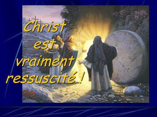 Alléluia Christ est ressuscité, Il est vraiment ressuscité. Alléluia Christ est ressuscité, Il est vraiment ressuscité, Alléluia.