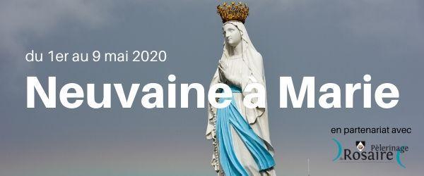 """Neuvaine à Marie du 1er au 9 mai, par le site """"Retraite dans la ville""""."""