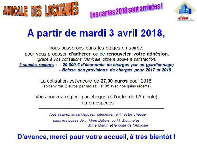 Adhésions 2018