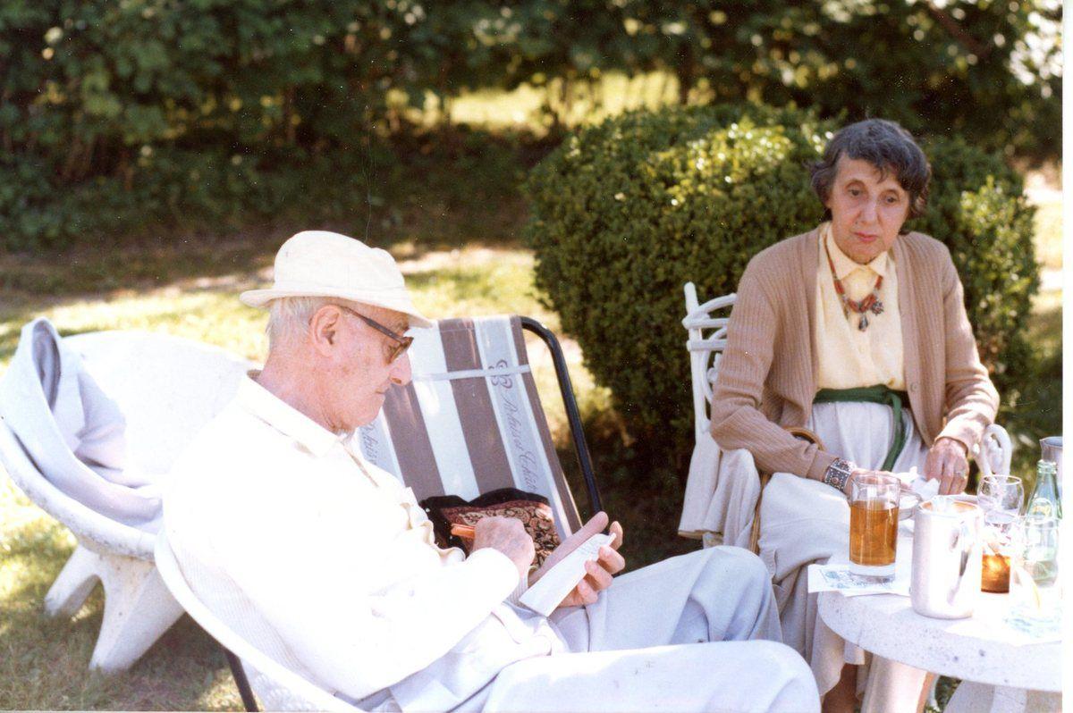 Louis et Solange  aux Prés fleuris en 1985