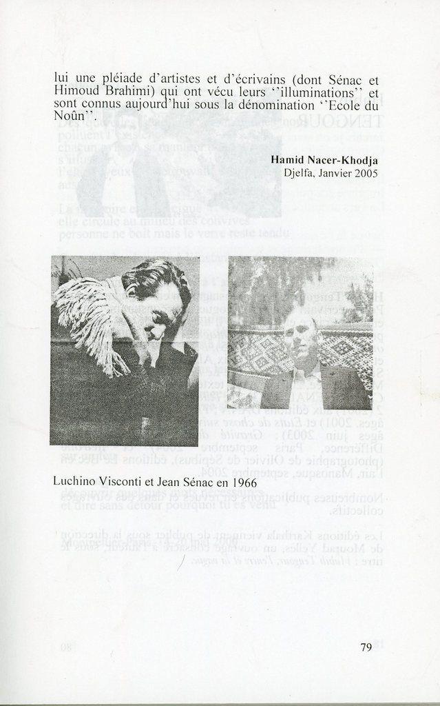 Luschino Visconti et Jean Sénac à Alger en 1966: un article de Hamid Nacer-Khodja