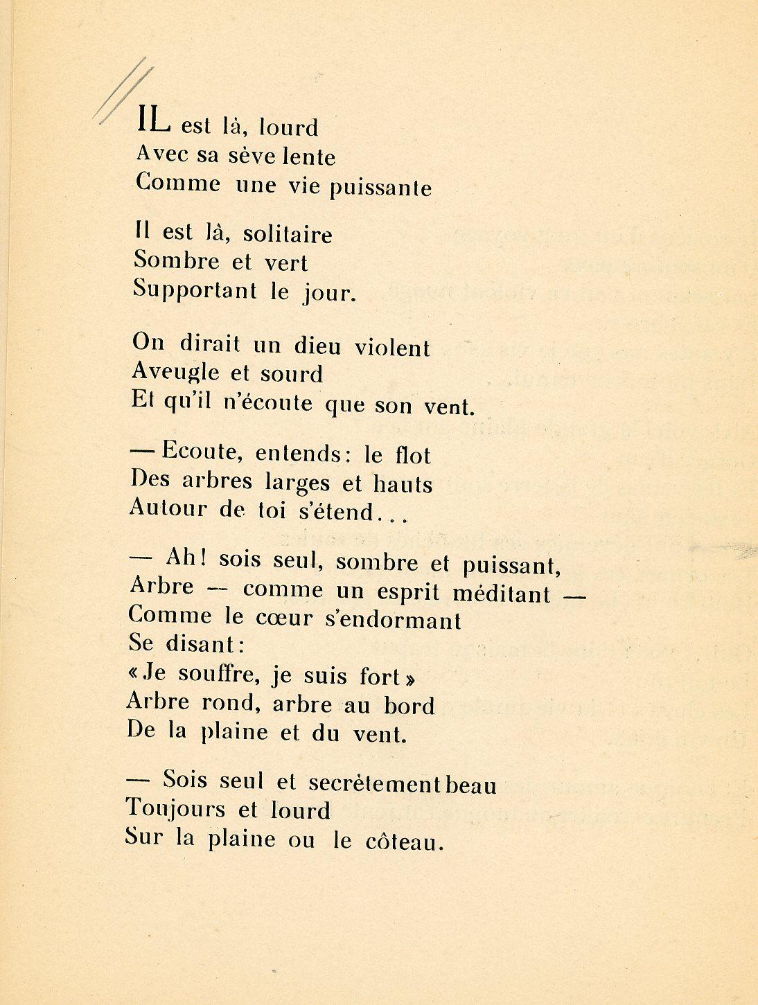 La sève des jours (Poème de Blanche Balain)