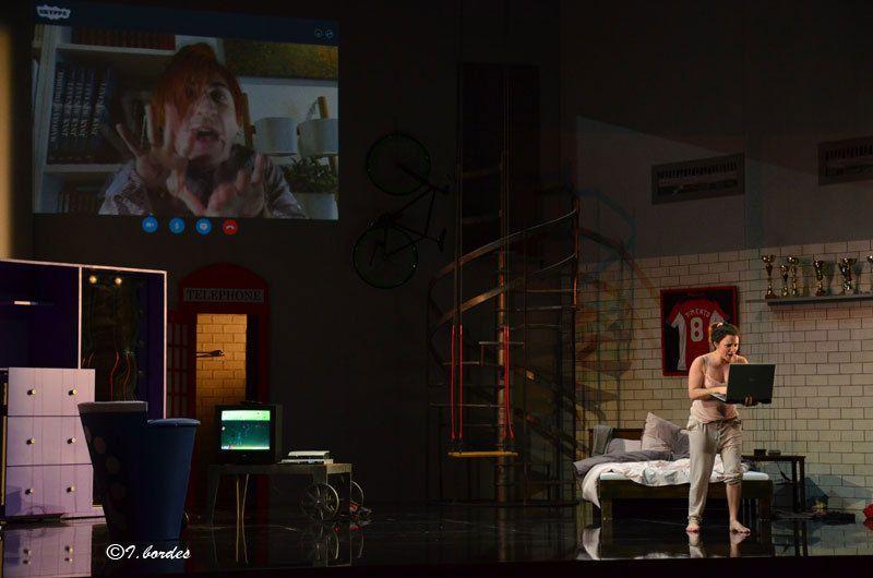 Photos originales de l'opéra «LE TÉLÉPHONE / AMELIA VA AU BAL» de MENOTTI à l'Opéra-Théâtre de Metz Métropole : (Dim. 5 Mars 2017 à 15H Mar. 7 et Jeu. 9 Mars à 20H)