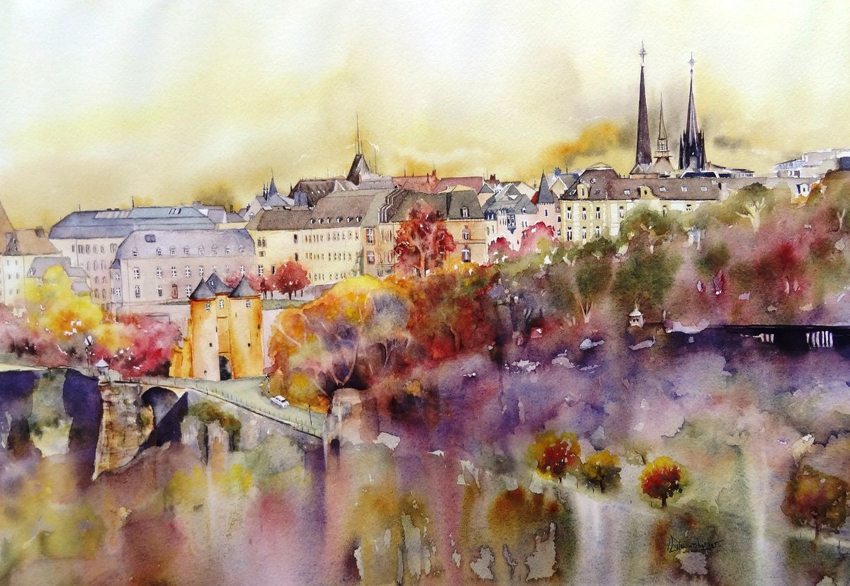 christine Weissenberger aquarelle