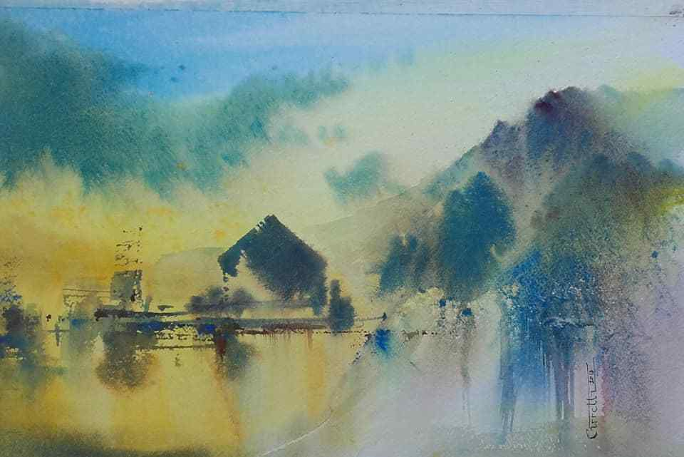 Claude Carretta aquarelle