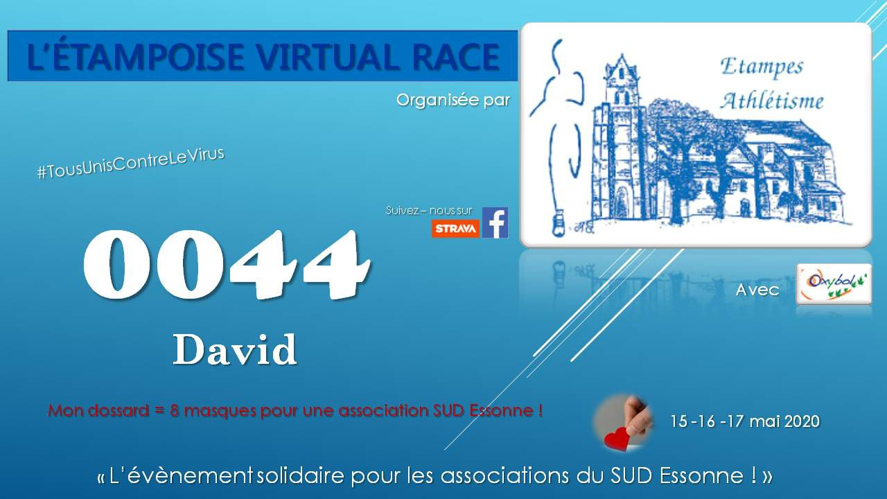 [15 au 17/05/2020] Etampoise Virtual Race